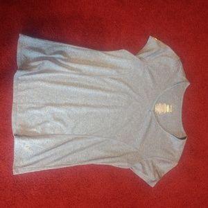 Women's Danskin Now Semi Fitted Blue Shirt Large